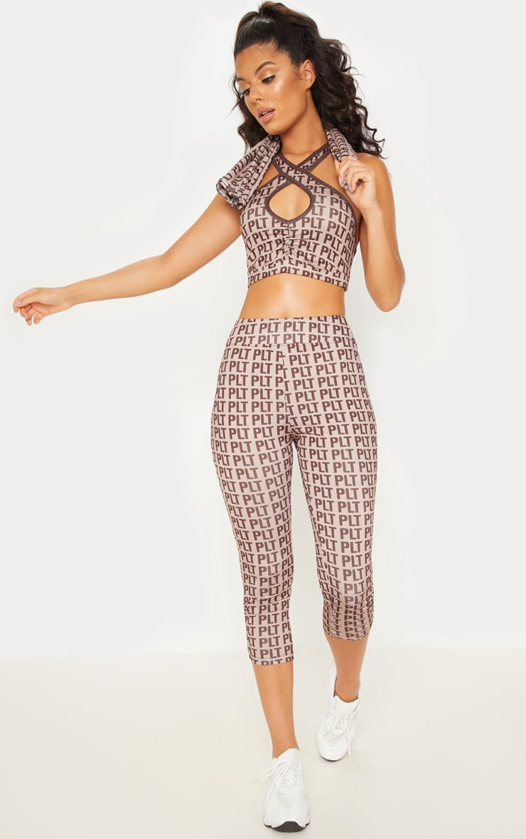 PLT Stone Ruched Detail Cropped Leggings 2