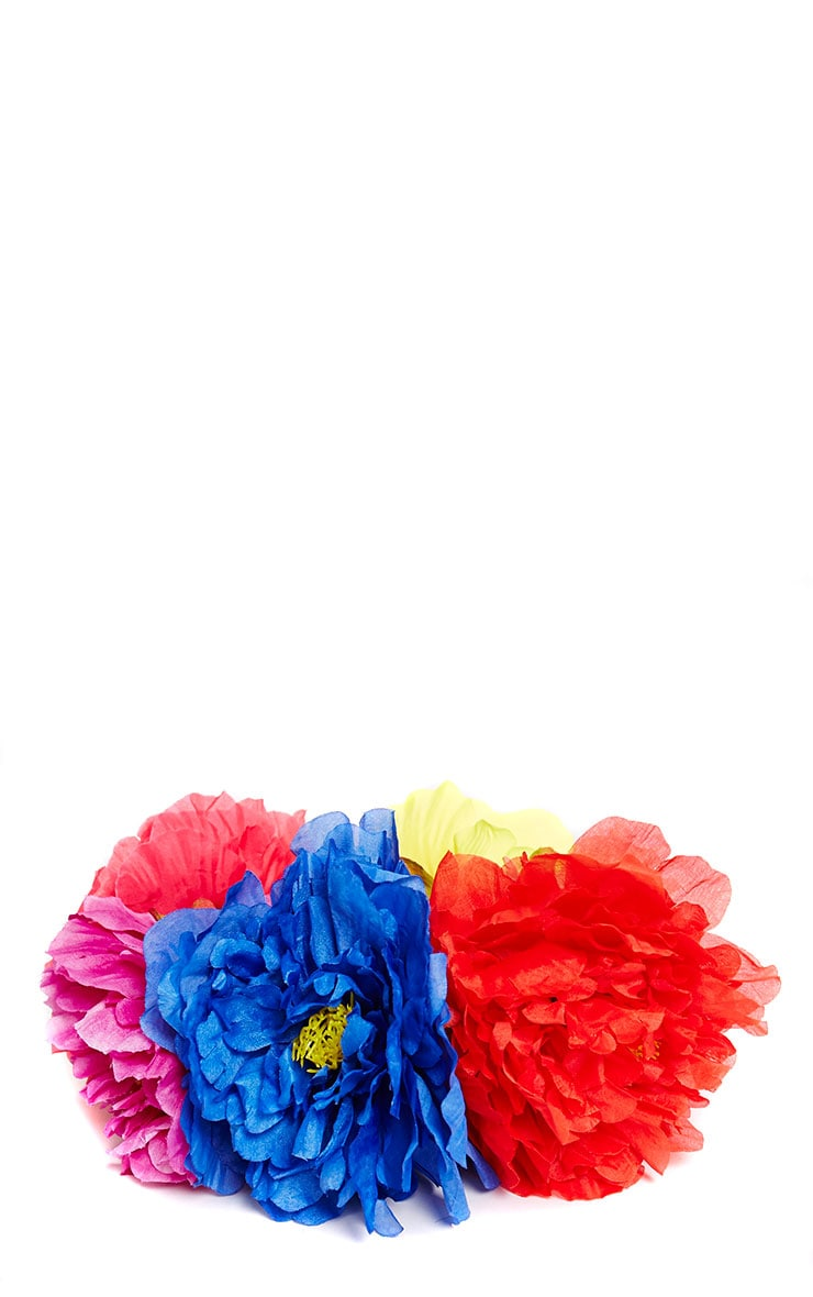 Sava Multi Colour Large Floral Hair Garland 3