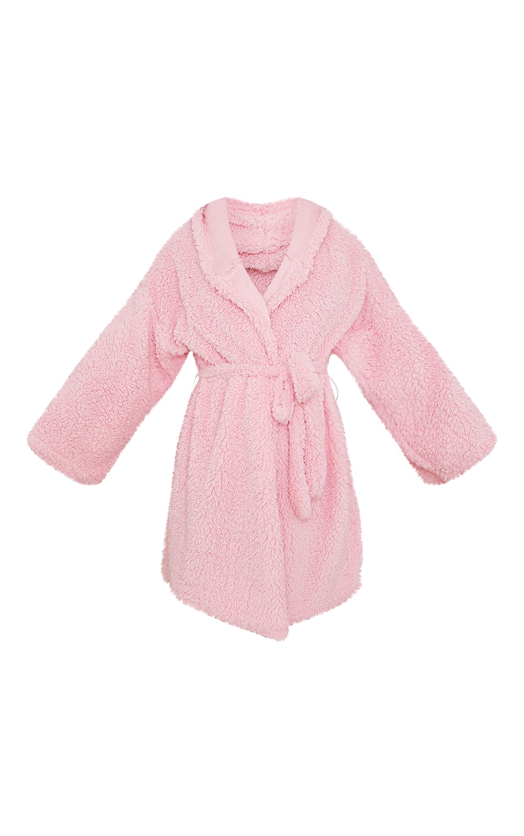 Pink Borg Dressing Gown 5