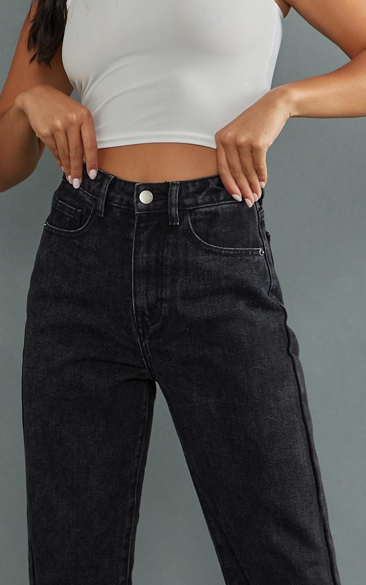 Petite Black Split Hem Jeans 4