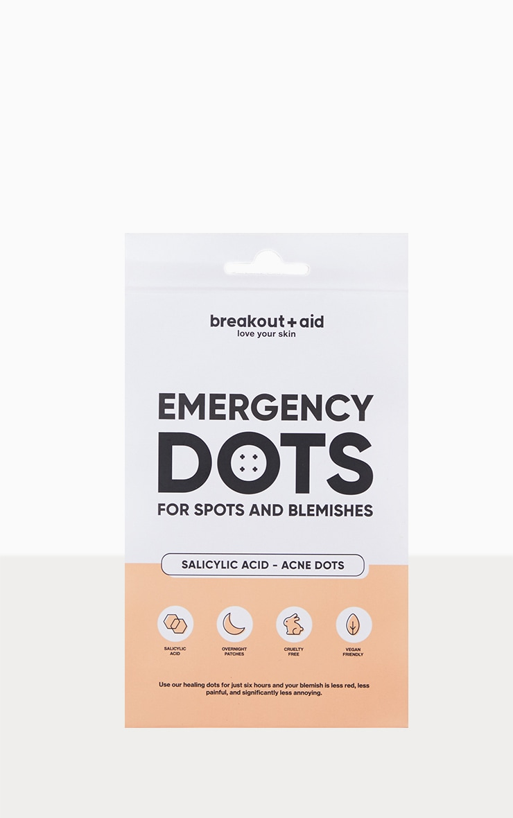 Breakout Aid Dots For Spots And Blemishes 48 Salicylic Acid Infused Acne Dots image 1