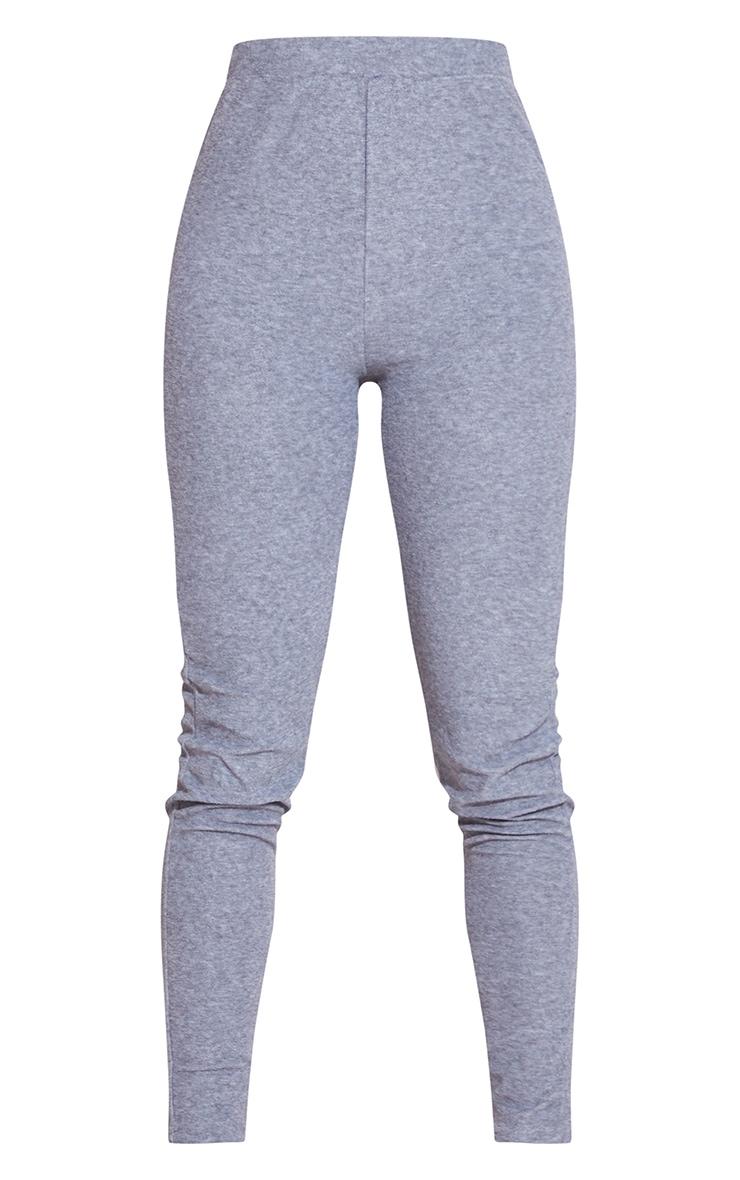 Grey Towelling Leggings 4