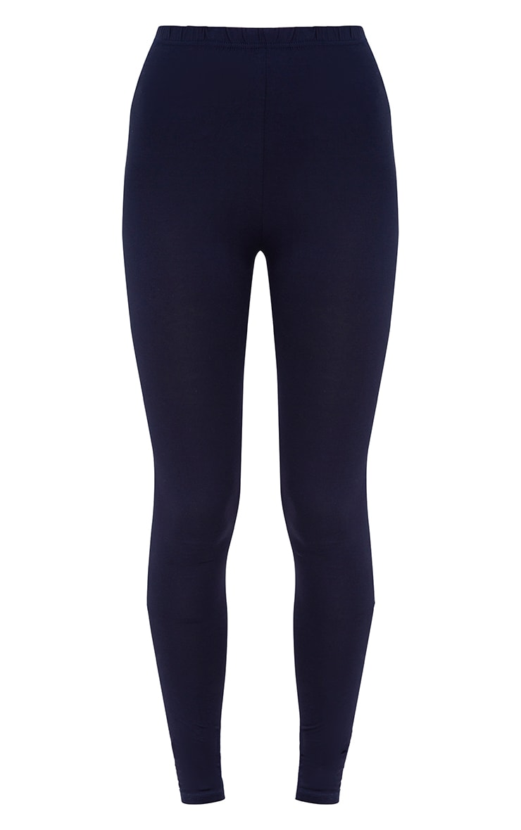 Basic Navy and Taupe Jersey Leggings 2 Pack 3