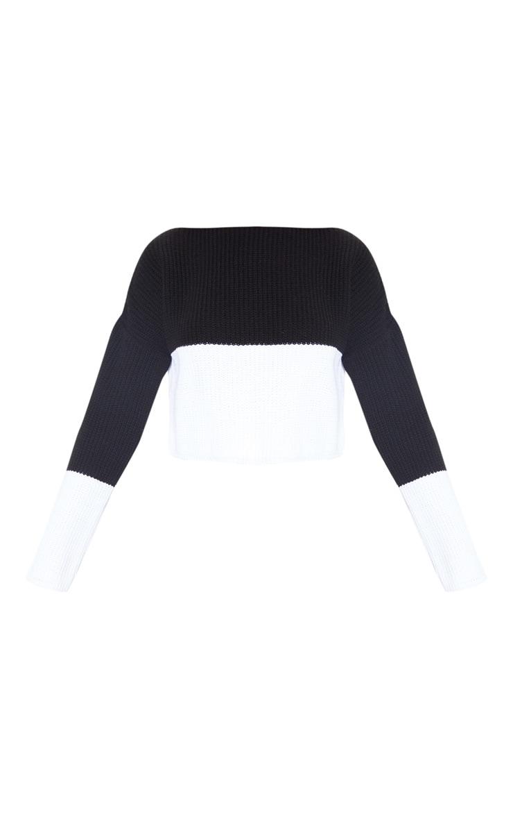 Black Monochrome Colour Block Jumper 3