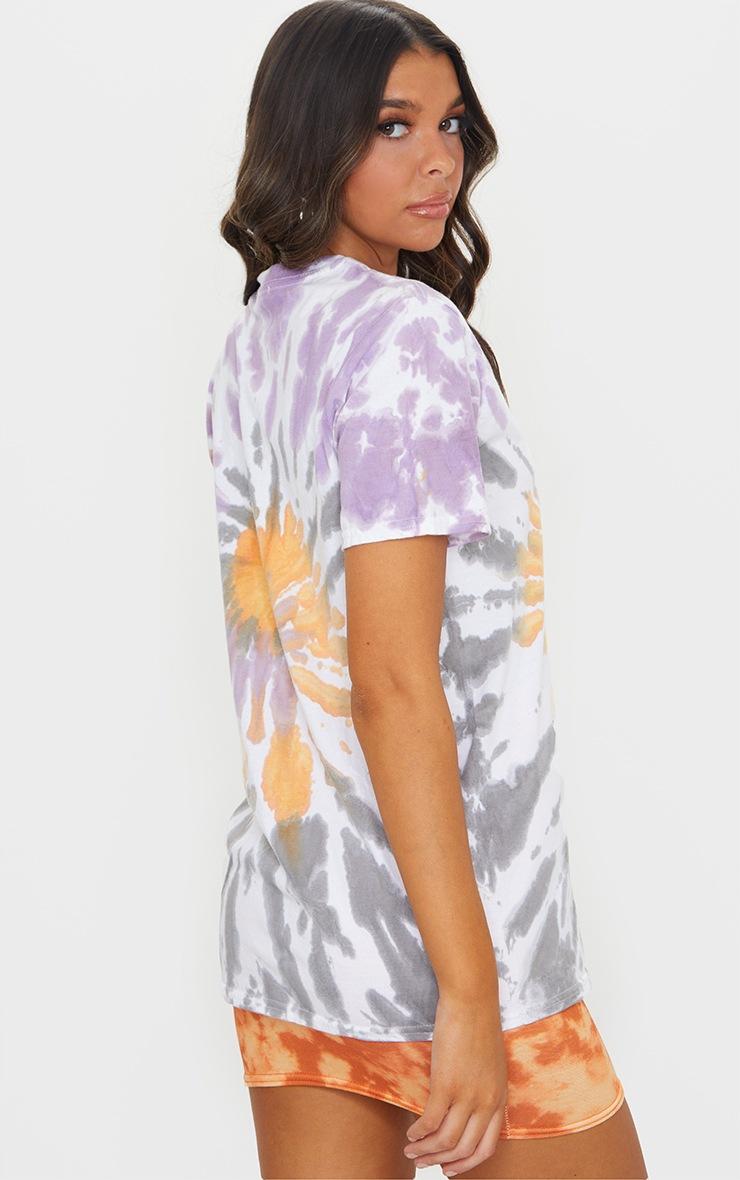 Multi Tie Dye Boyfriend T Shirt 2