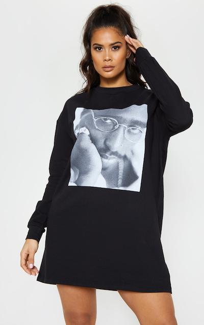 df403398211 Tupac Black Glasses Oversized Sweater Dress