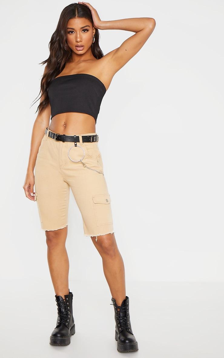 Stone Cargo Pocket Shorts  1