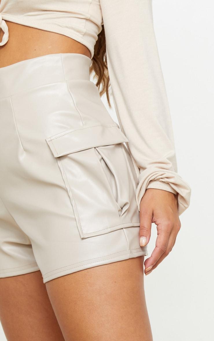 Petite Stone PU Pocket Shorts  6