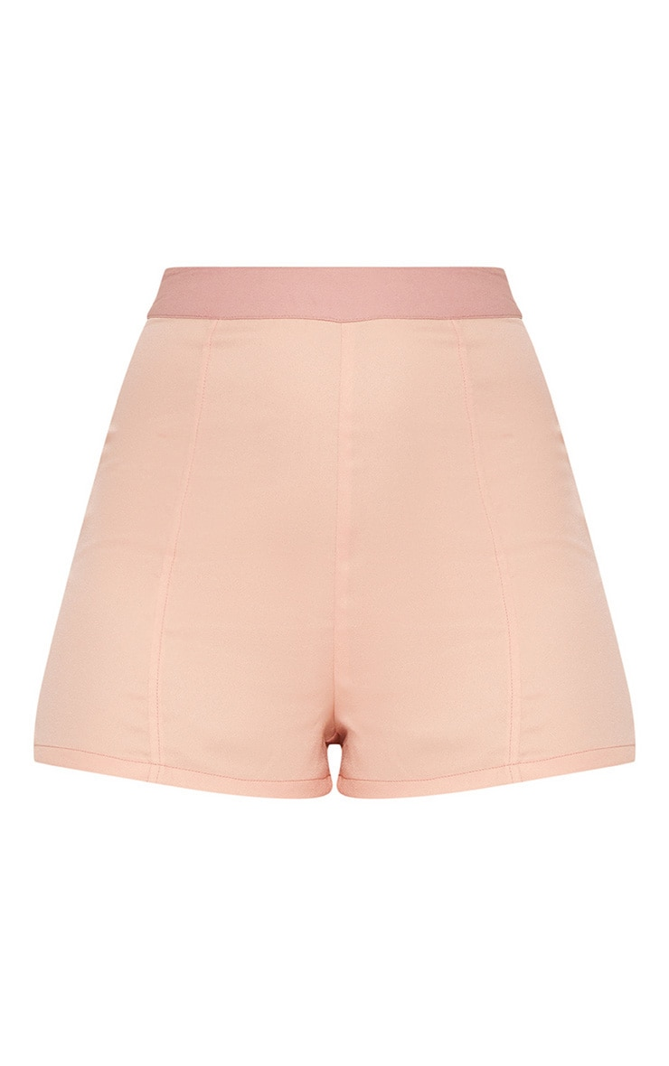 Dusty Pink Contrast Waist Band Formal Shorts  3