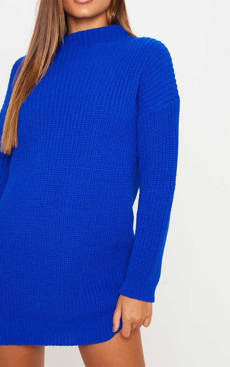 Cobalt Oversized Knit Dress  5