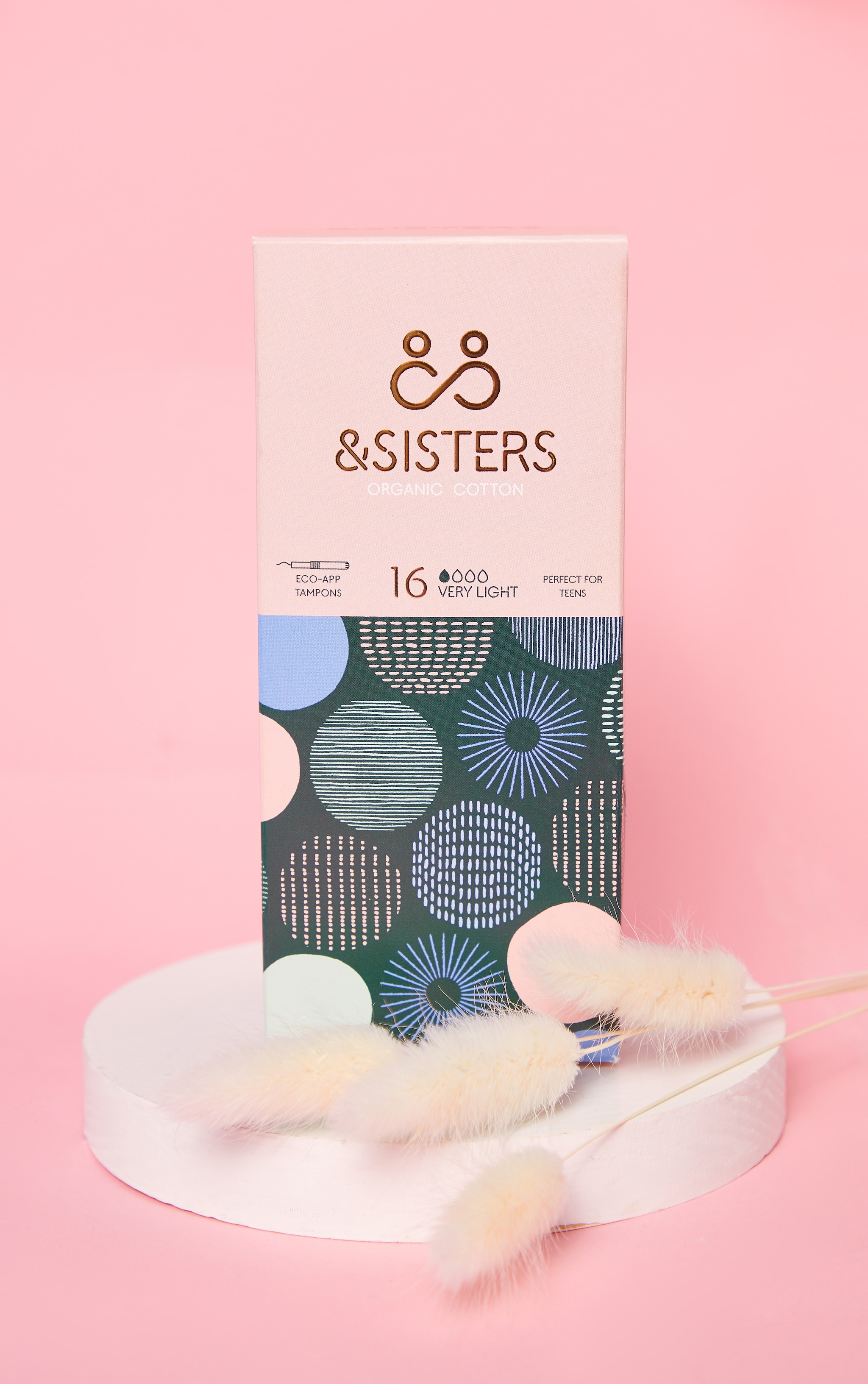 &Sisters Eco-Applicator Tampons Very light 16 pack 1