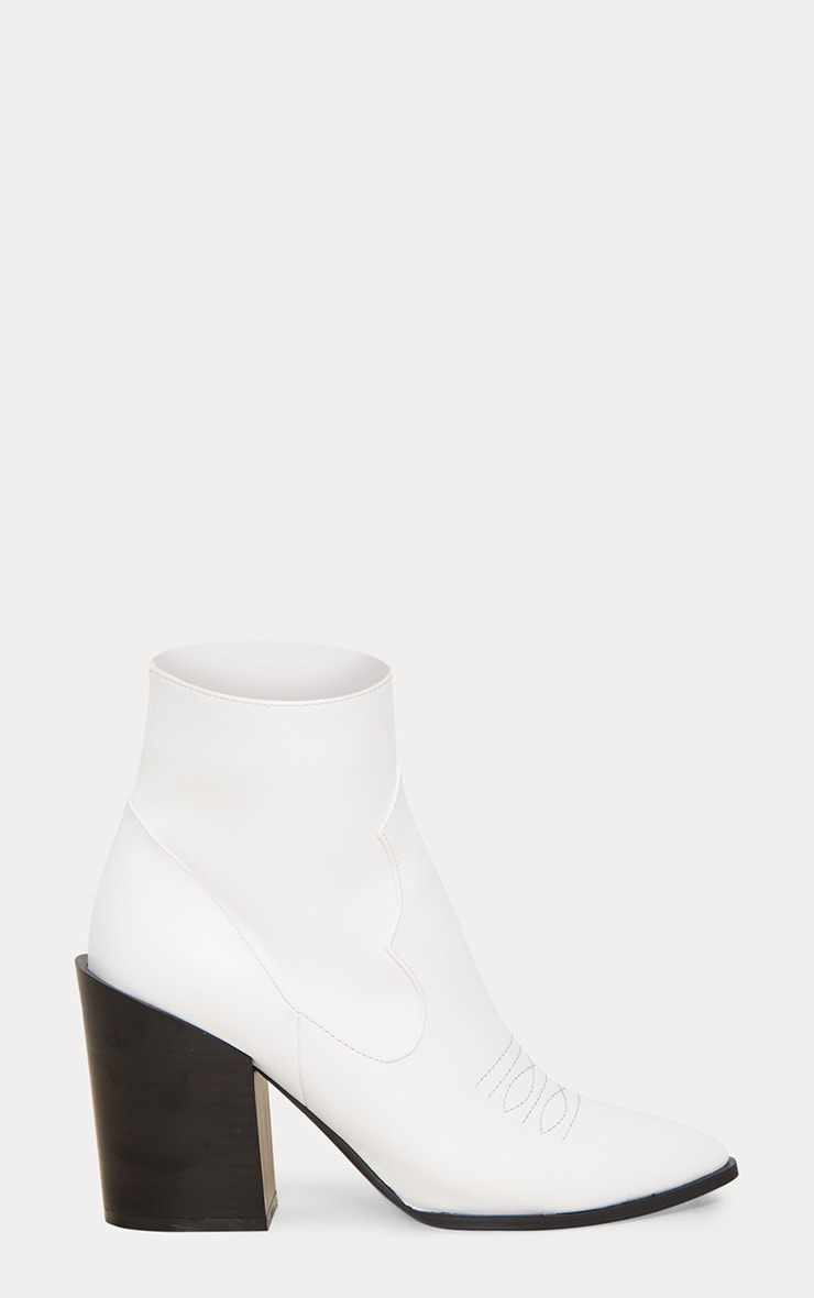 White Western Boot 4