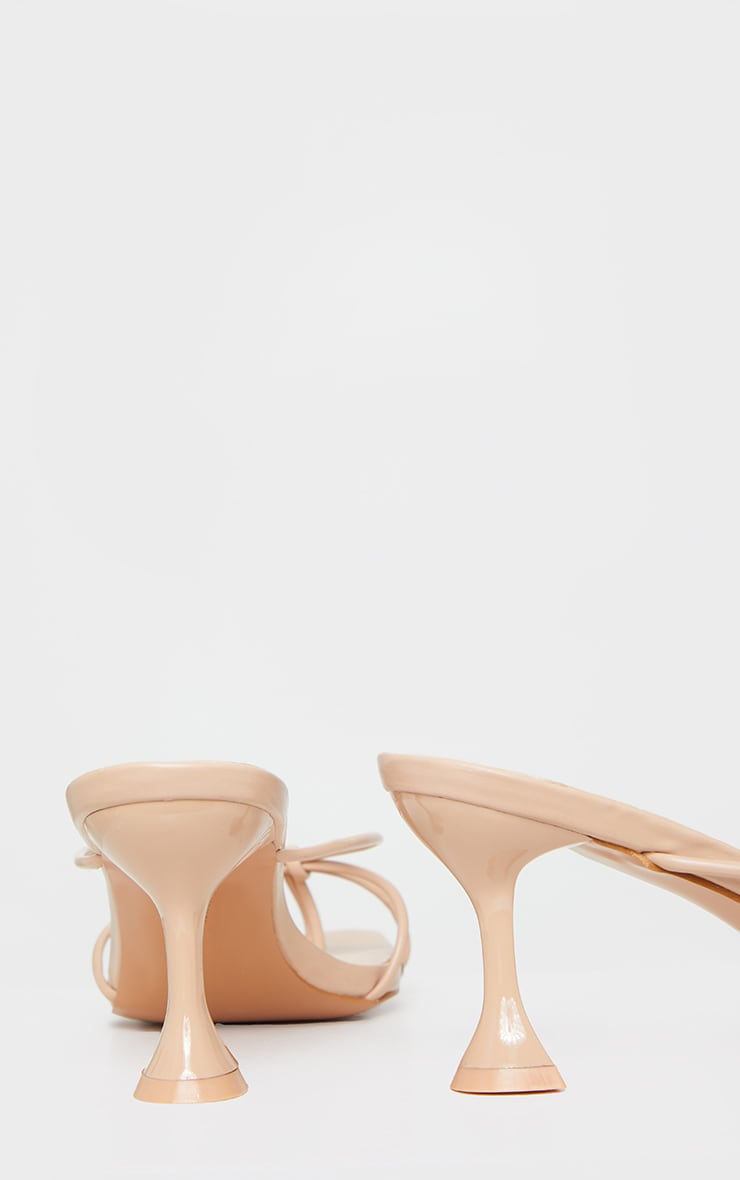 Camel Knot Toe Thong Low Heel Cake Stand Mules 5