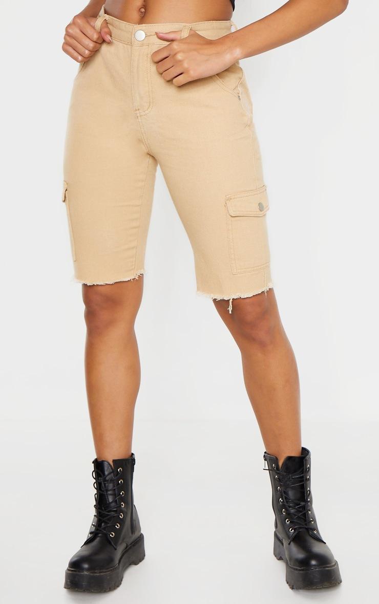 Stone Cargo Pocket Shorts  2