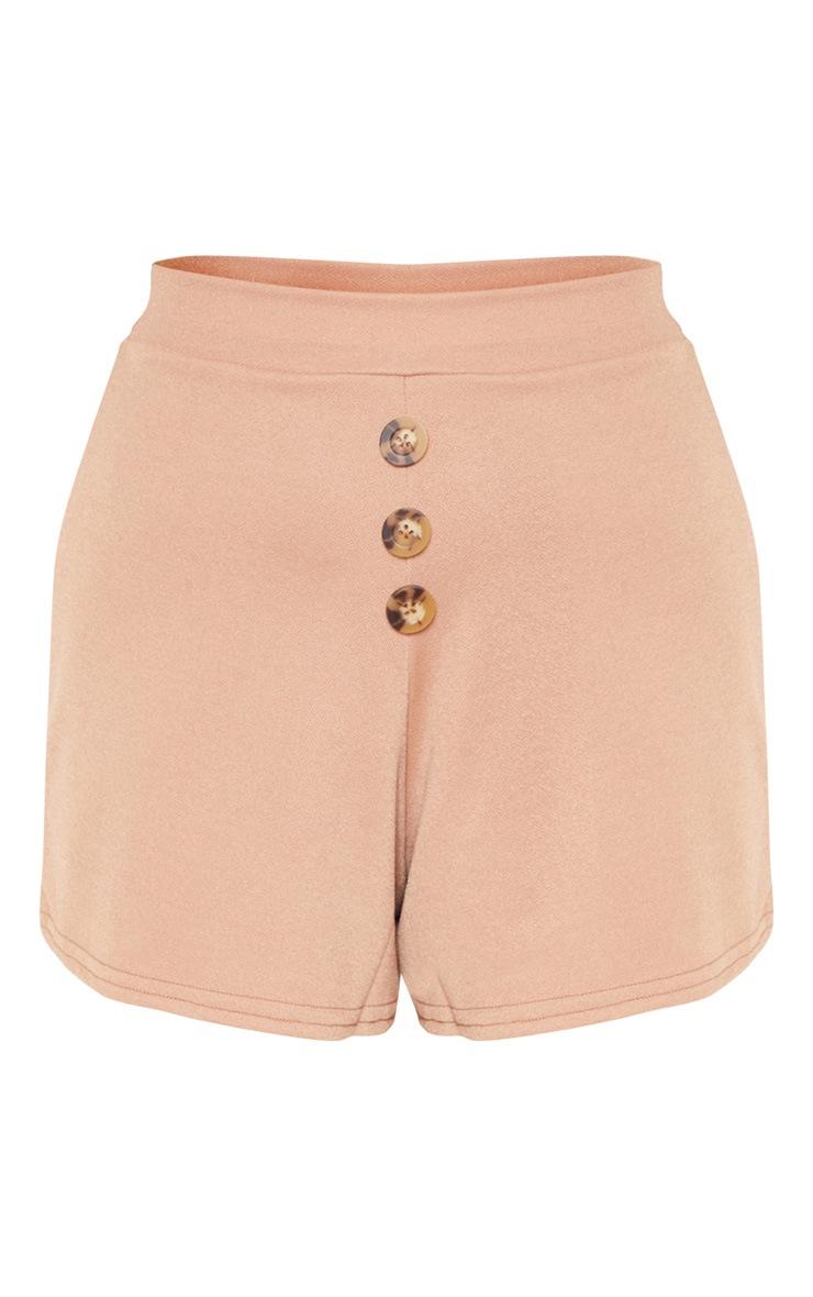 Sand Button Detail Shorts 3