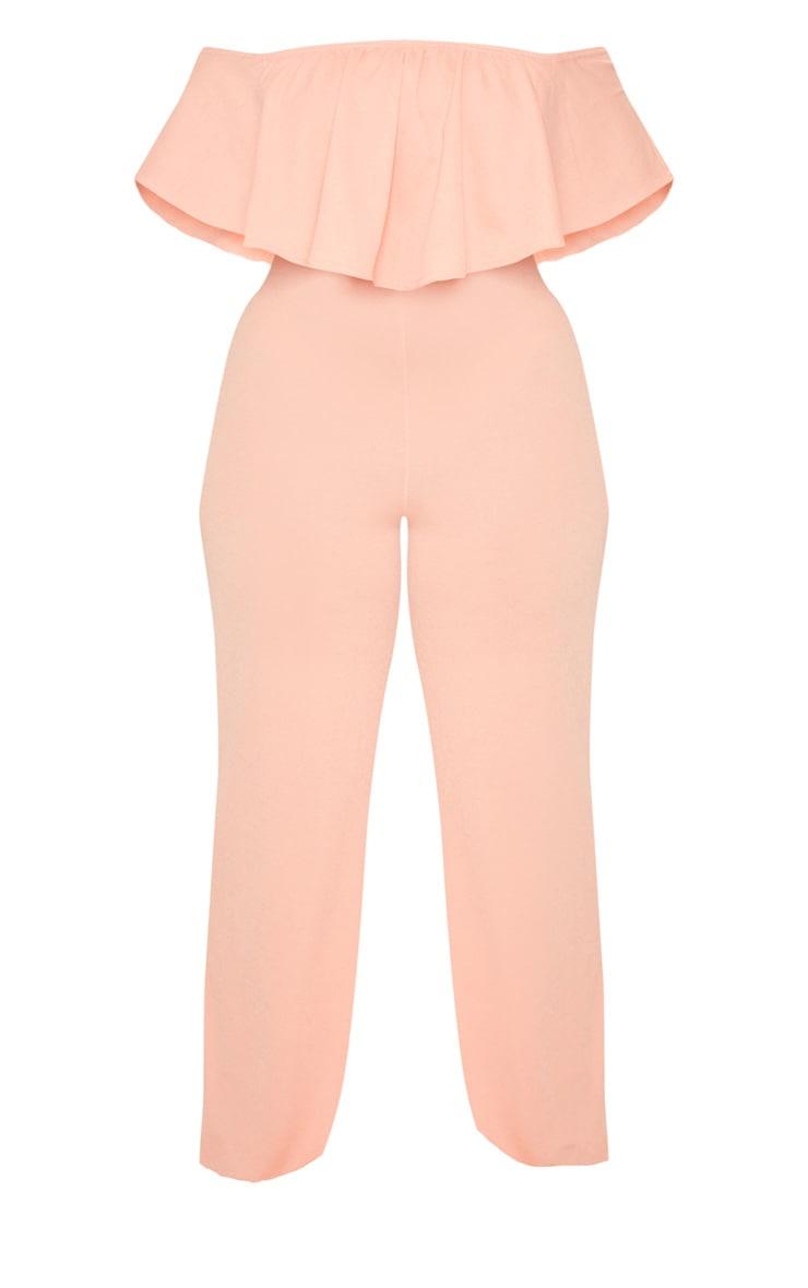 Plus Coral Bardot Frill Culotte Jumpsuit 3