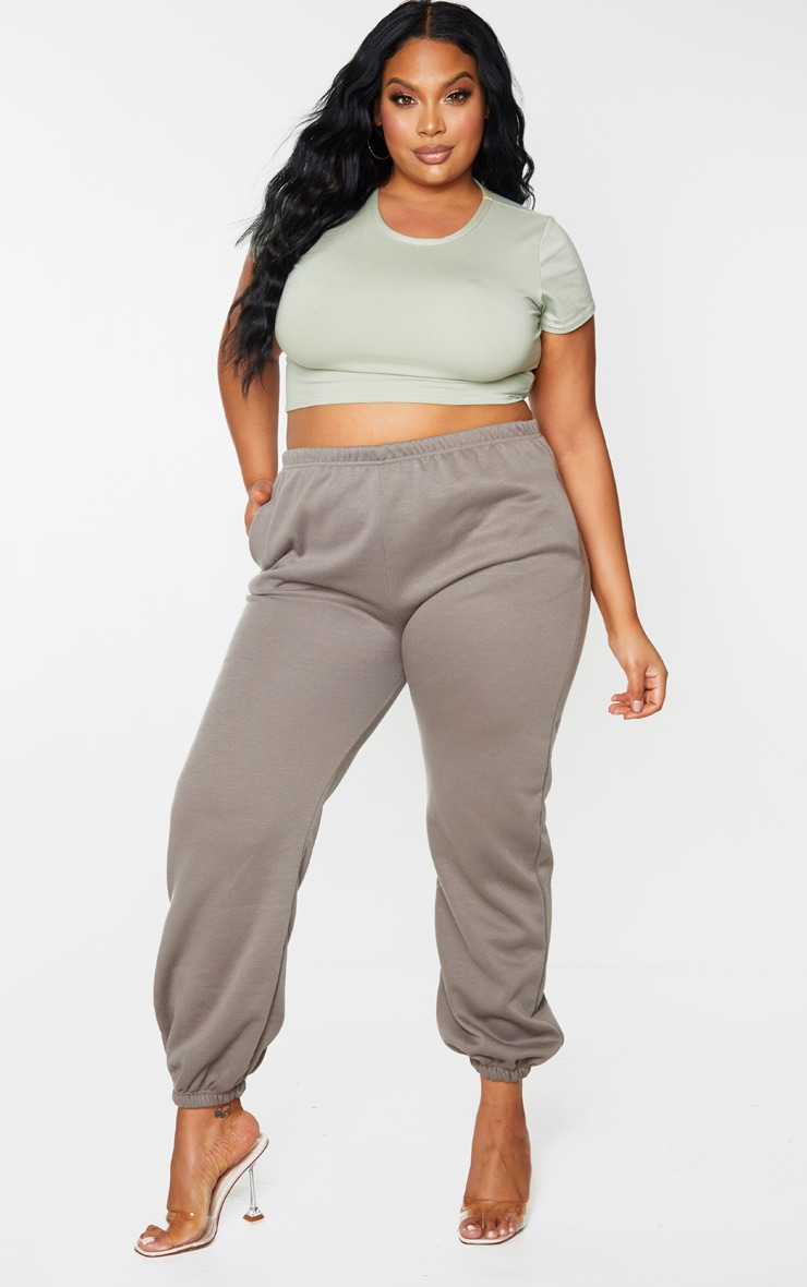 Plus Khaki Casual Jogger 1