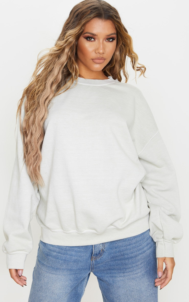 Sage Green Ultimate Oversized Sweatshirt 1