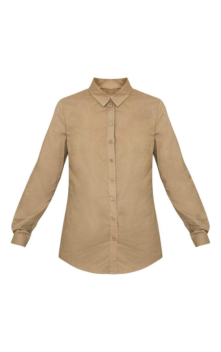 Analyn Khaki Drop Hem Shirt 3