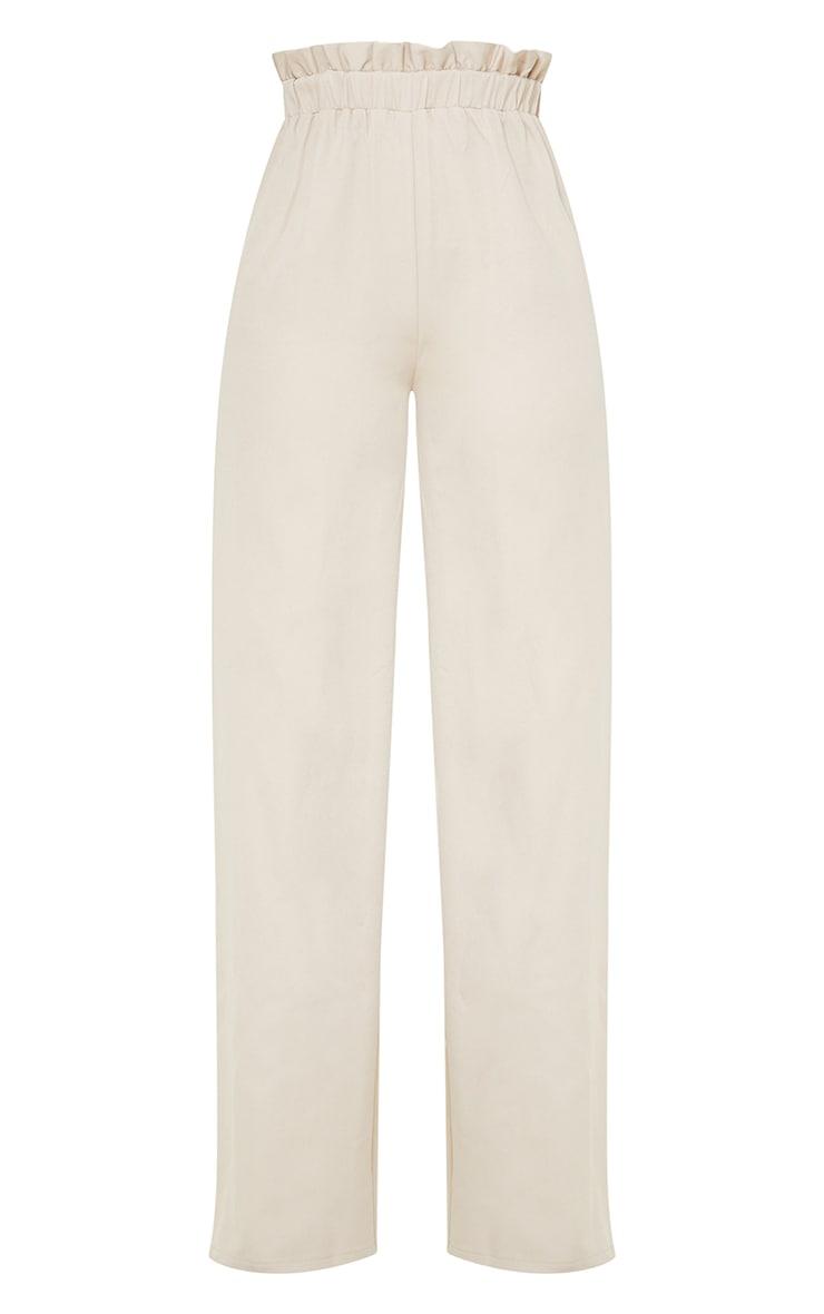 Tall Grey Ruched Waist High Waisted Leg Pants 5
