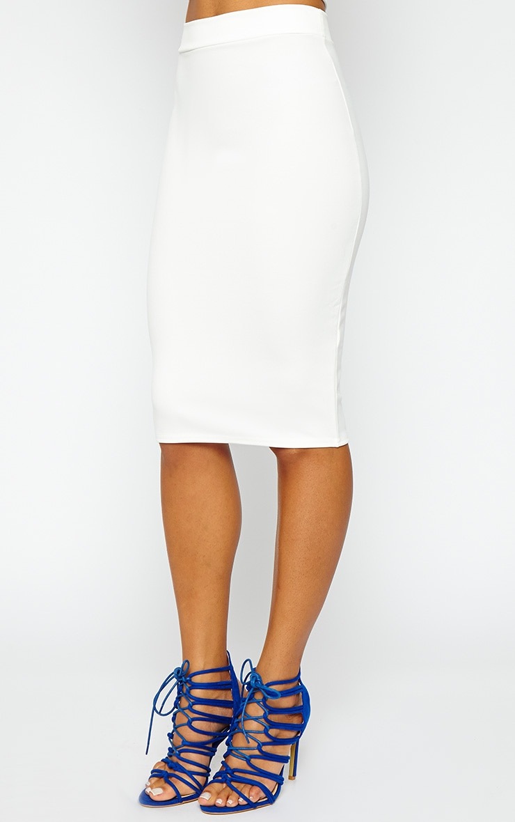 Janine Cream Midi Skirt 4