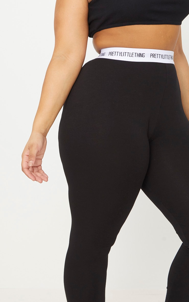 PRETTYLITTLETHING Plus Black Leggings 5