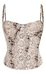 Snake Structured Corset Top 3
