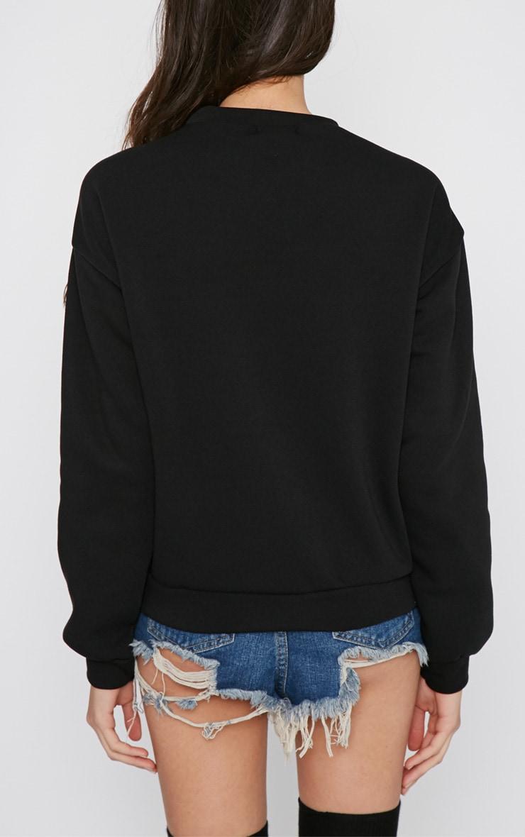 Madison Black Fashion Over Functionality Sweater 2