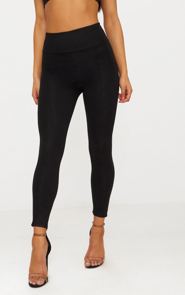 Black Second Skin High Waisted Ponte Seamed Legging 2