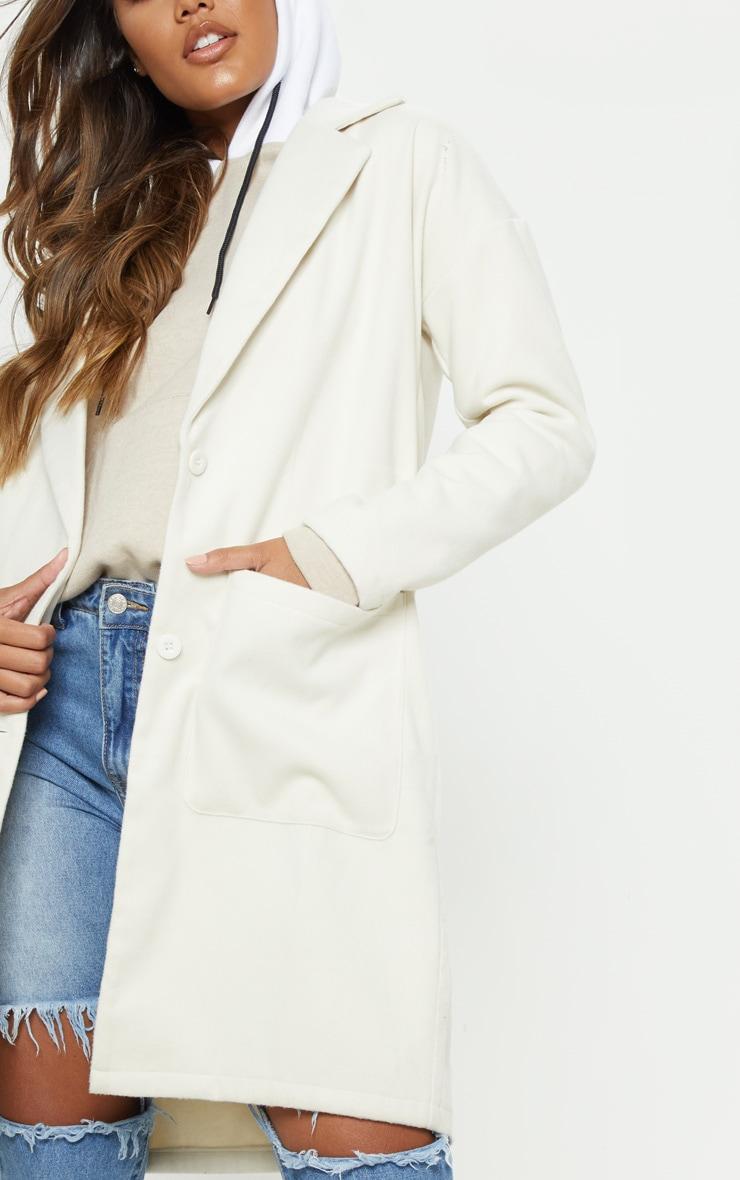 Cream Midi Coat  5