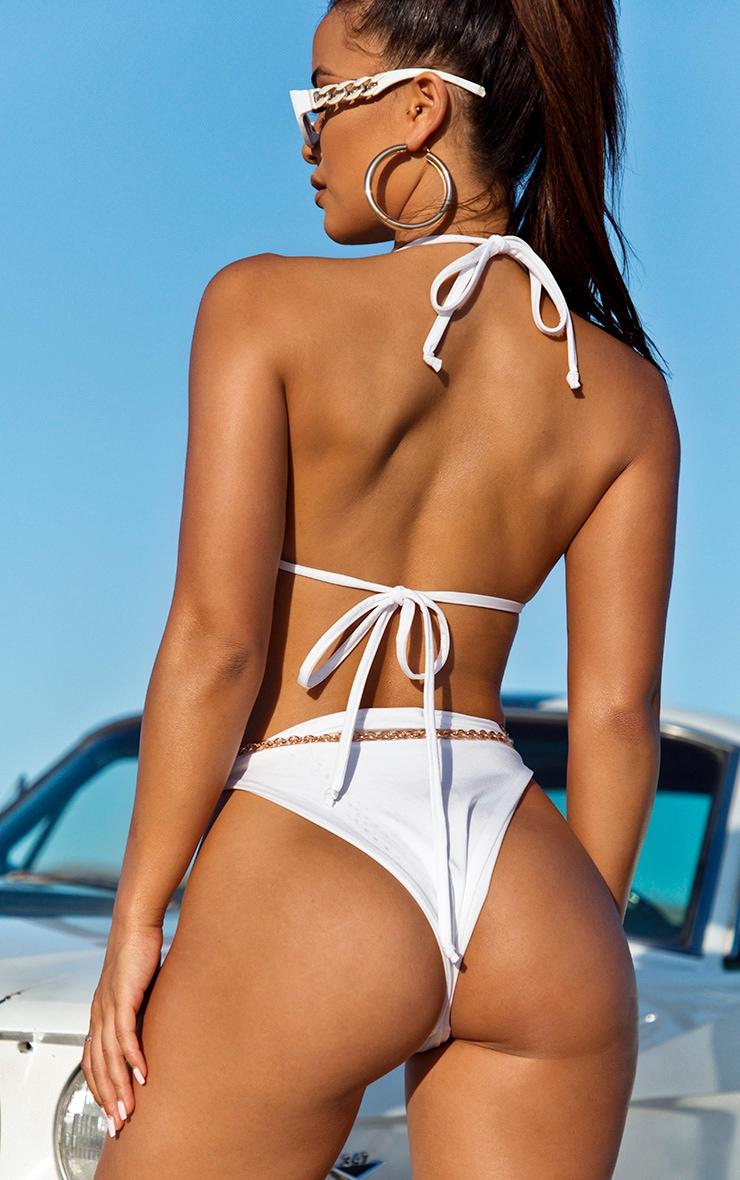 Bas de bikini style brésilien blanc 2