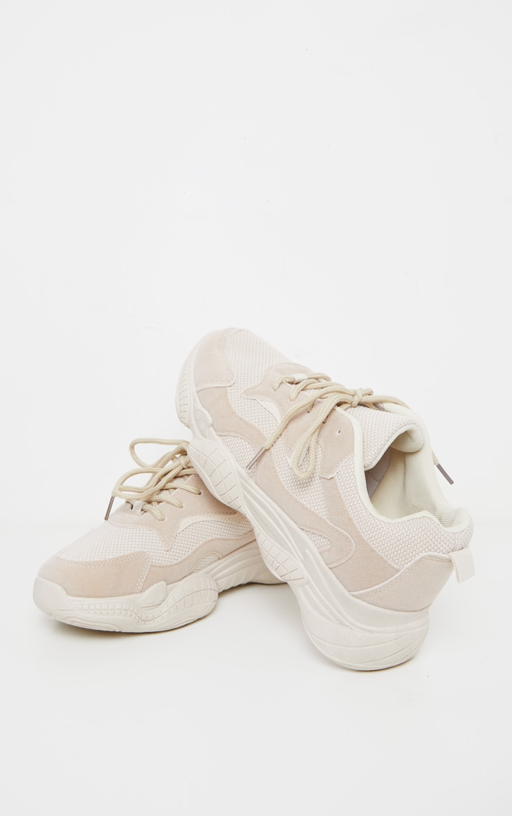 Sand Bubble Sole Lace Up Sneakers 3