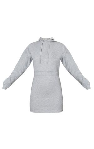Grey Elasticated Waist Long Sleeve Bodycon Dress image 5