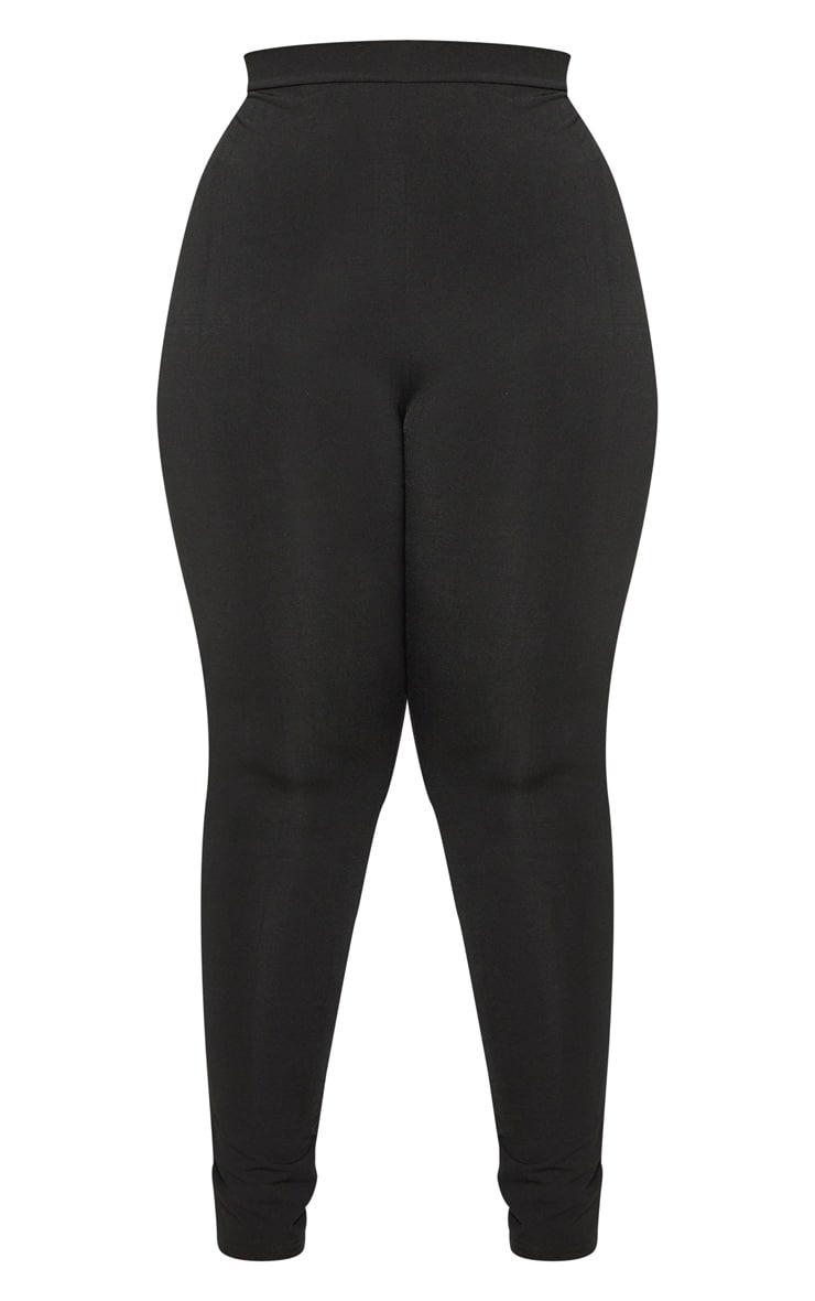 Plus Black Slinky High Waisted Leggings 3