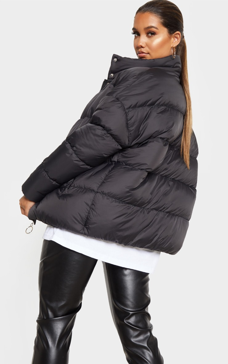 Black Oversized Boyfriend Puffer 2