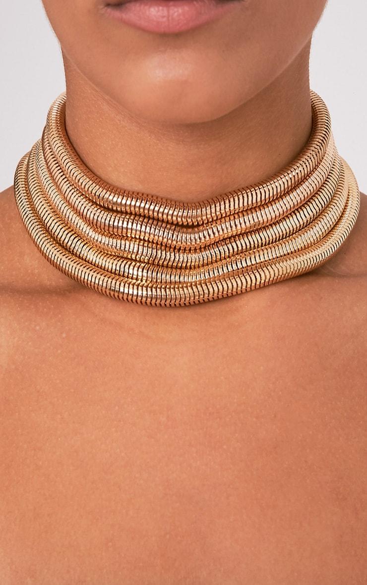 Balia Gold Multi Layered Choker 1