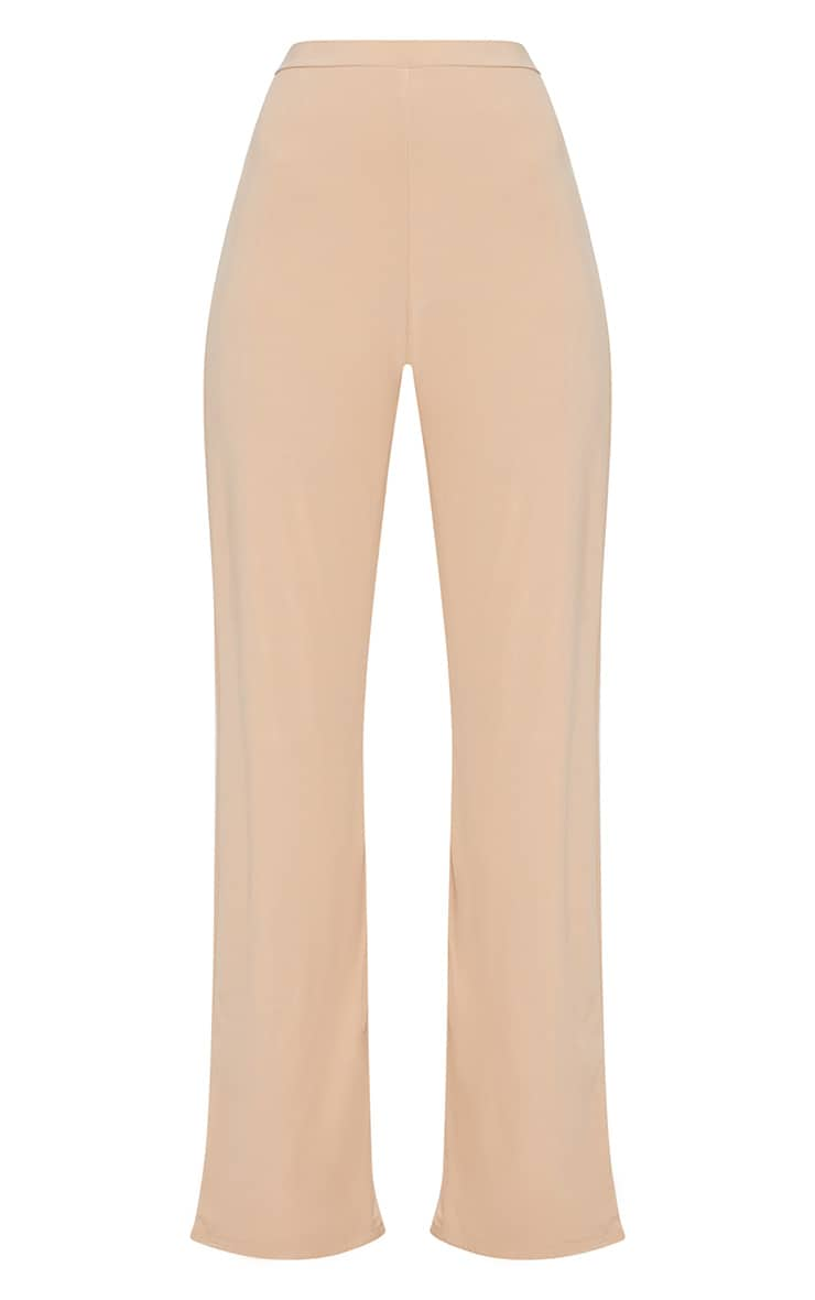 Champagne Slinky Palazzo Trousers 3