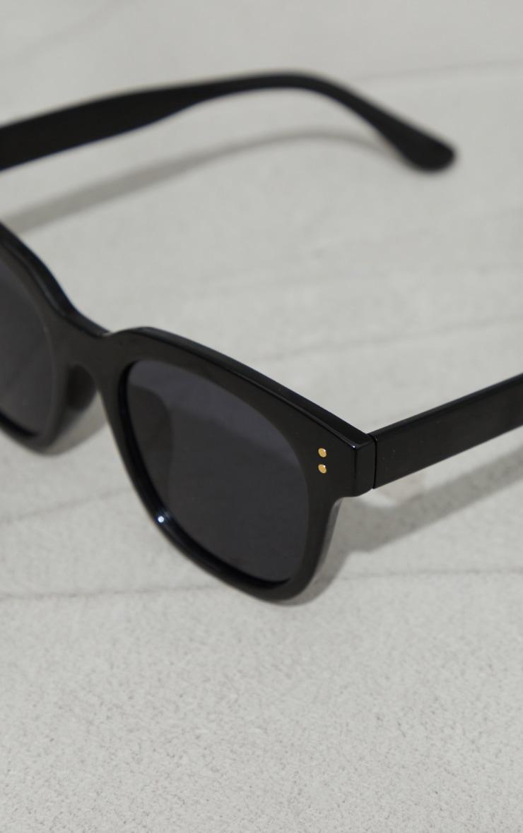 Black Recycled Plastic Classic Square Sunglasses 3