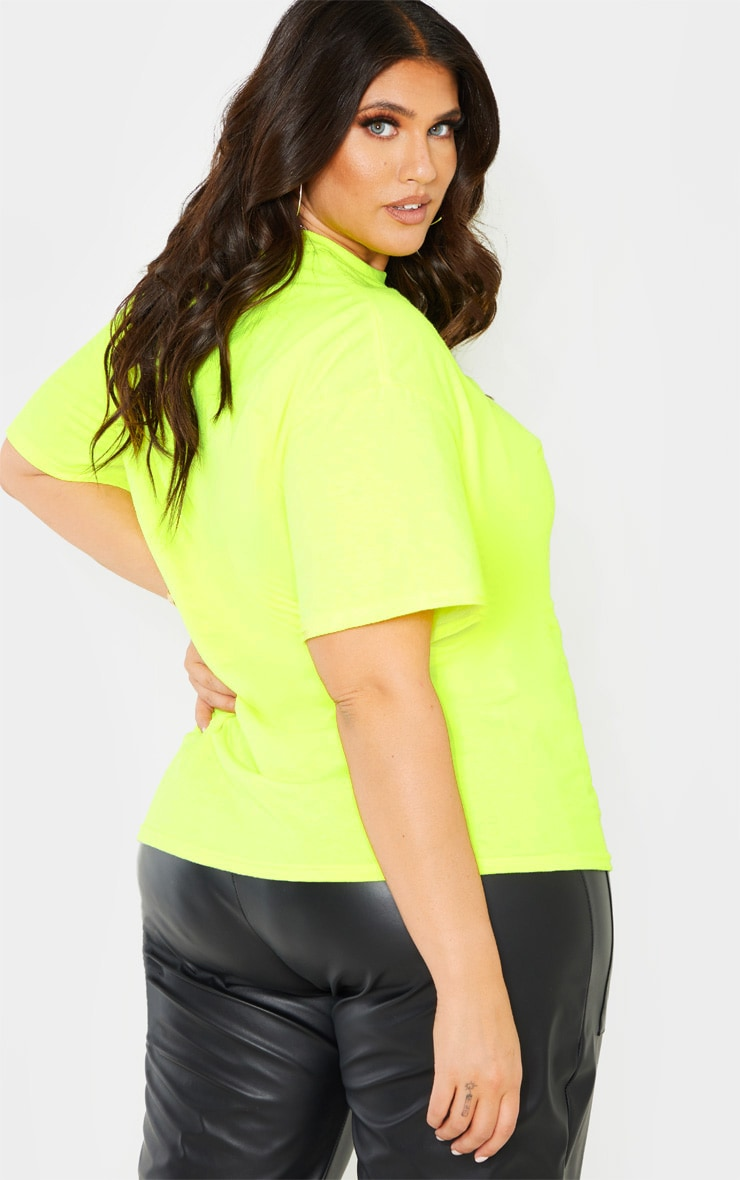 Plus Neon Lime Oversized T Shirt 2