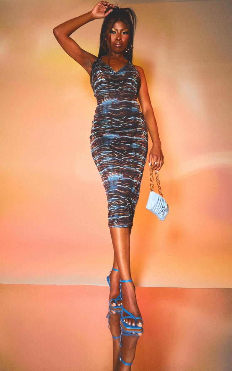 Multi Halterneck Mesh Midaxi Dress 1