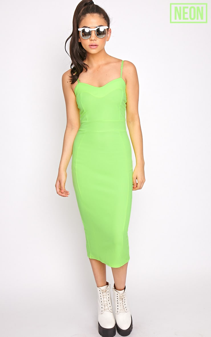 Traci Lime Bodycon Midi Dress 3