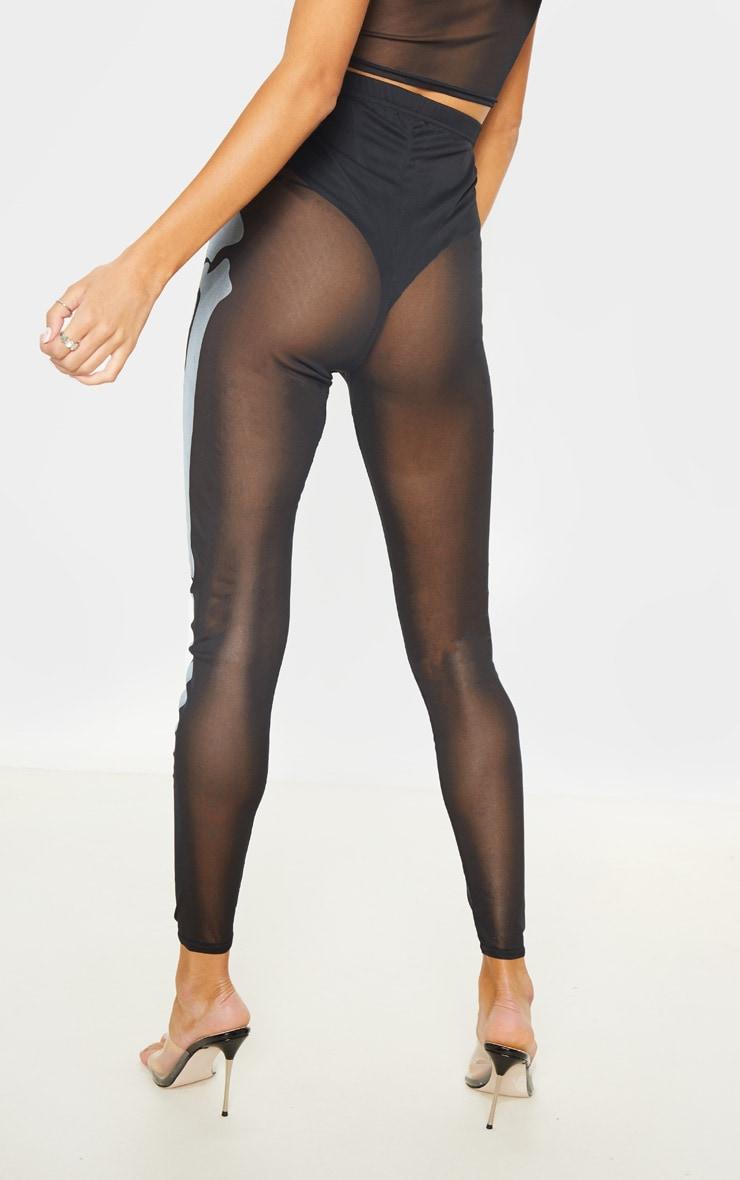 Tall Black Skeleton Print High Waisted Legging 4