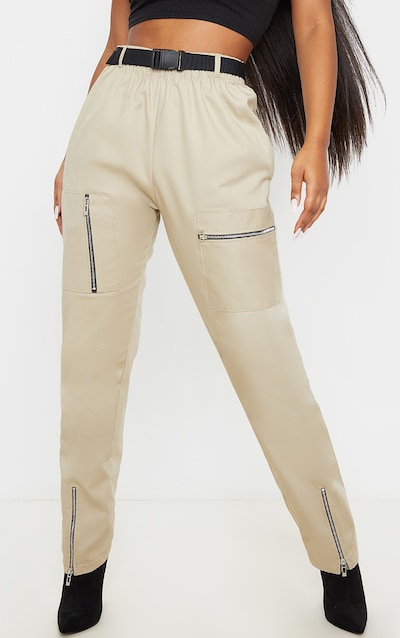 Stone Belted Woven Cargo Trouser