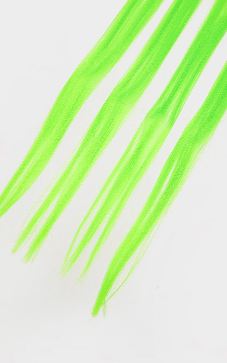 The Gypsy Shrine Easy Tiger Hair Extensions Neon Green 3