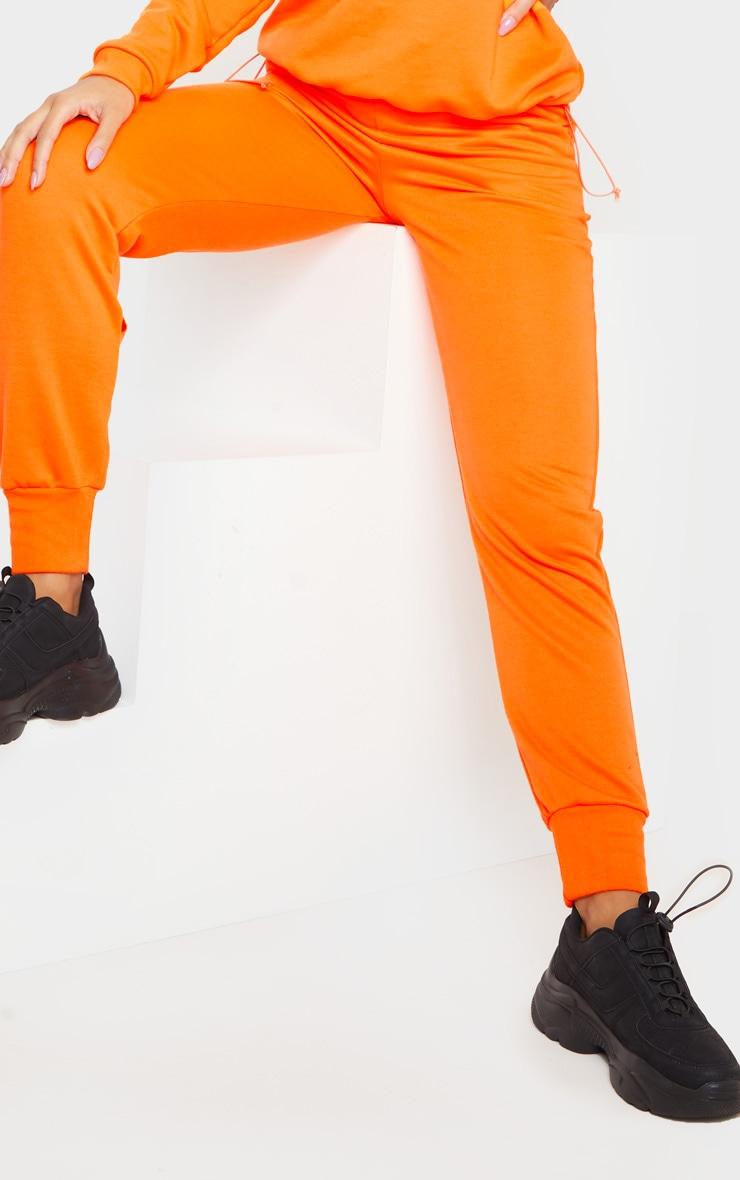 Orange Basic Gym Sweat Jogger 5