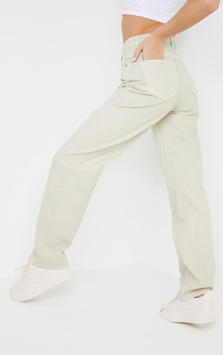 Stone Long Leg Straight Jeans 3