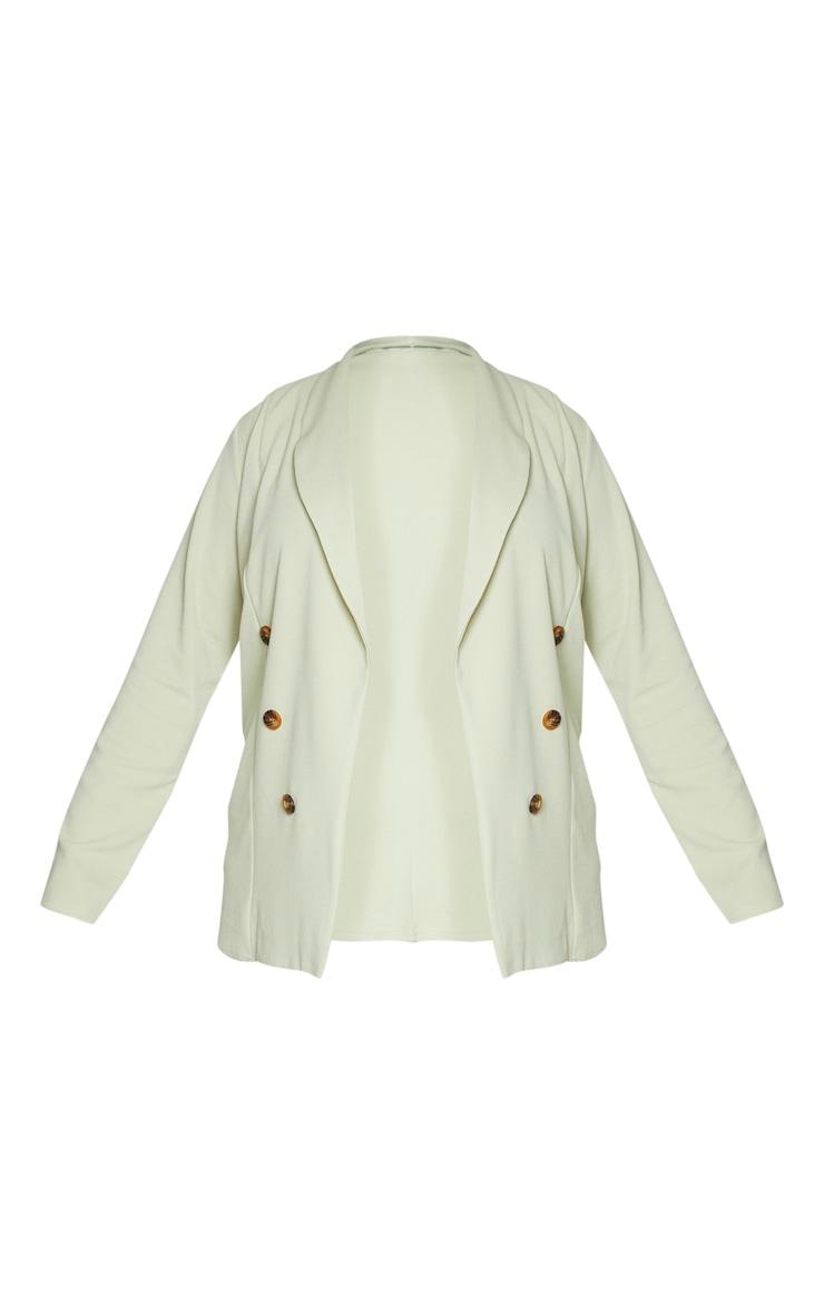 Plus Sage Green Oversized Button Detail Blazer 5