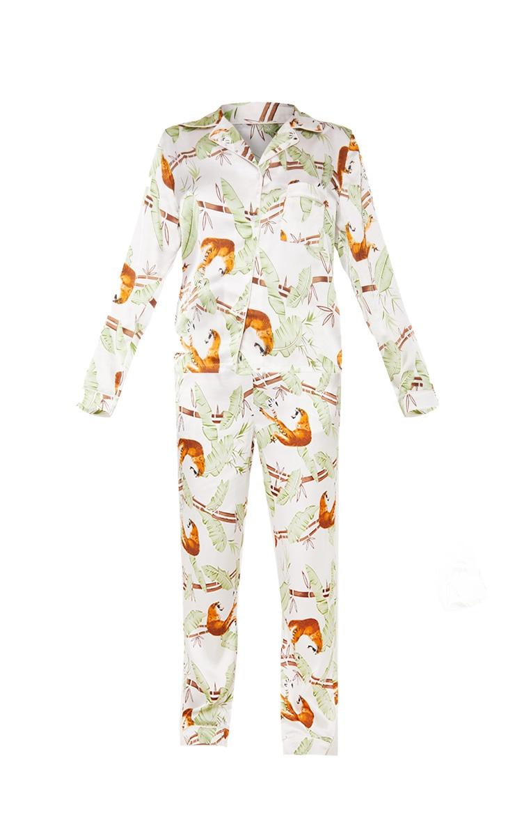 Jungle Tiger Long Satin Pyjama Set 3
