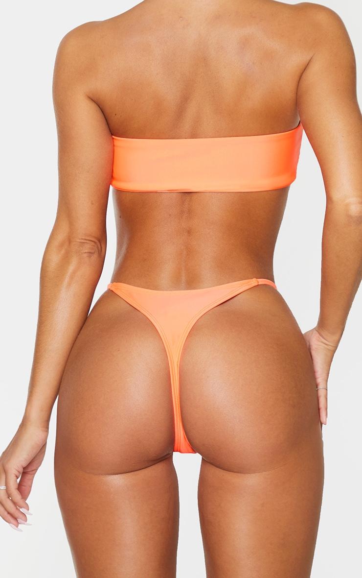Coral Mix & Match Thong Bikini Bottoms 1