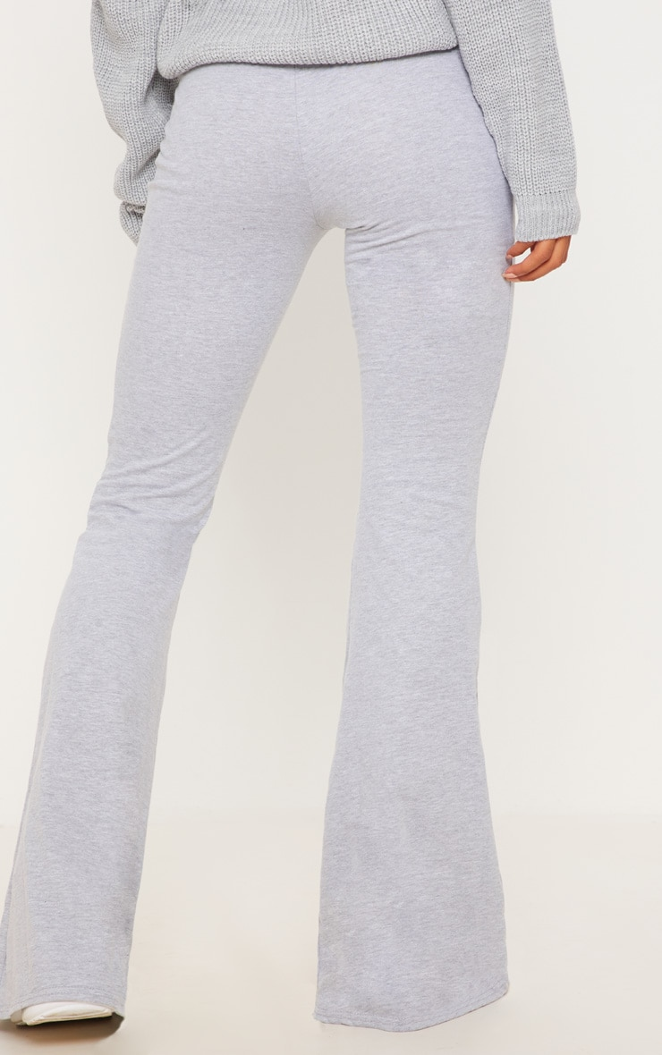 Grey Cotton Drawstring Waist Flare Trouser 3